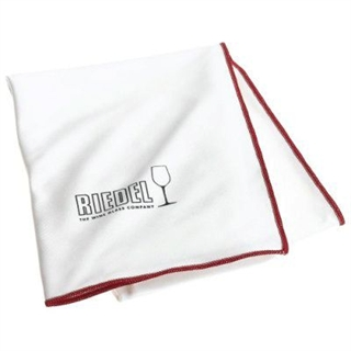 Riedel Microfibre Crystal Cleaning Cloth White With Burgundy Trim