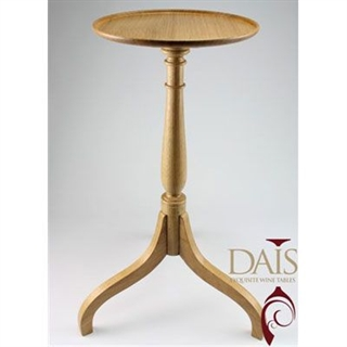 Standard Select Dais Wine Table - Natural Oak with Classical Column
