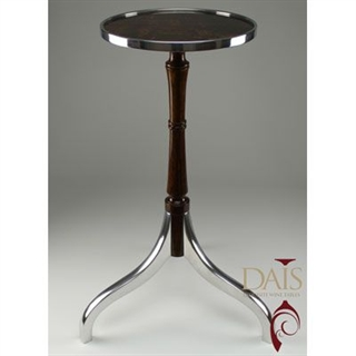 Masterpiece Dais Wine Table - Burr Walnut and Aluminium Top and Legs