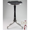 Superior Dais Wine Table - Aluminium Legs and Top with Wooden Insert (Veneered Ply)