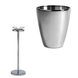 Champagne Ice Bucket / Cooler Stainless Steel - With Stand