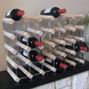 Fully Assembled Wooden Wine Rack - Natural Pine & Galvanised Steel 30 Bottle