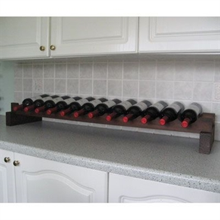 Modularack Wooden Wine Rack Additional Layer - 12 Bottle Wide - Dark Stain 1H x 12W