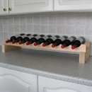 Modularack Wooden Wine Rack Additional Layer - 9 Bottle Wide - Natural Pine 1H x 9W