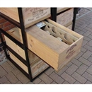 Wine Bottle Case Rack Metal & Wood - 8 Drawer