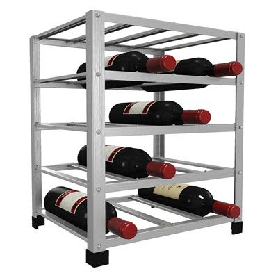 big metal wine rack fully assembled 20 bottle - Metal Wine Rack