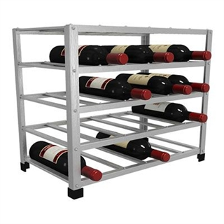 Big Metal Wine Rack Self Assembly - 30 Bottle