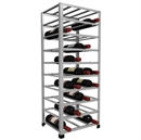 Big Metal Wine Rack Fully Assembled - 40 Bottle