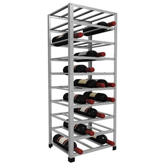 Big Metal Wine Rack Self Assembly - 40 Bottle