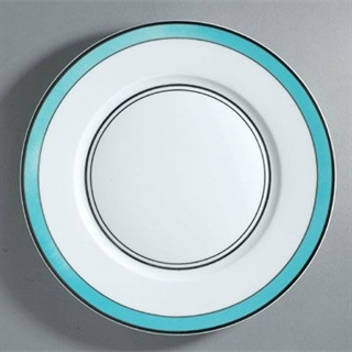 Raynaud Cristobal Turquoise Dinner Plate - Thin Band 27cm