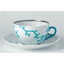 Raynaud Cristobal Turquoise Breakfast Cup and Saucer