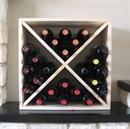 Pine Wooden Wine Rack - Cellar Cube - 24 Bottles - 223mm Deep