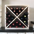Pine Wooden Wine Rack - Cellar Cube - 24 Bottles - 223mm Deep