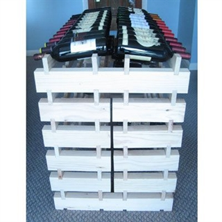 Modularack Wooden Wine Rack Double Density Ends - 4 Pieces