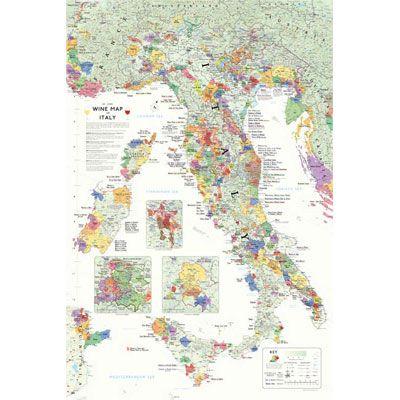 De Long S Wine Map Of Italy Bookshelf Edition Wine
