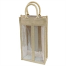 Jute Wine Carry Bag - 2 Bottle Capacity