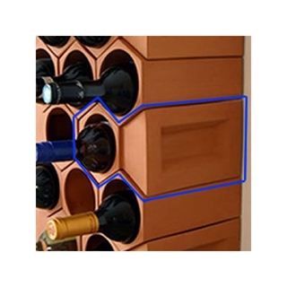 Terracotta Wine Rack Key Stones - 12 Bottles