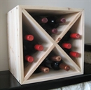 Pine Wooden Wine Rack - Mini Cellar Cube - 72 Bottles - 298mm Deep - Set of 6