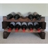 Modularack Wooden Wine Rack 10 Bottle - Dark Stain 2H x 5W