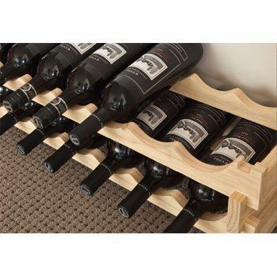 vinrack wooden wine rack 18 bottle natural pine 3h x 6w - Wooden Wine Rack