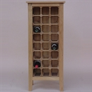 24 Bottle Contemporary Wooden Wine Cabinet / Rack - Legs