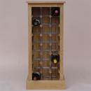 24 Bottle Contemporary Wooden Wine Cabinet / Rack - Plinth