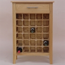 30 Bottle Contemporary Wooden Wine Cabinet / Rack - Legs