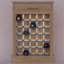 30 Bottle Contemporary Wooden Wine Cabinet / Rack - Plinth