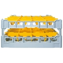 Fries Glass Washer Tray 16 Glasses 200mm High - 500 x 500mm