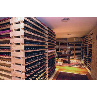 modularack wooden wine rack 22 bottle natural pine 2h x 11w
