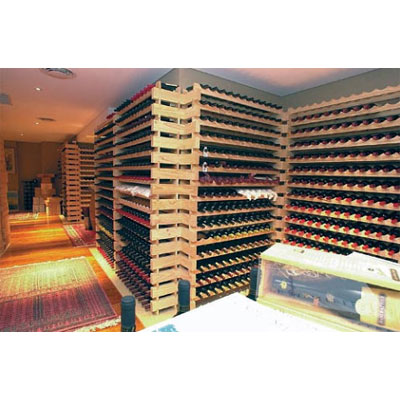 modularack wooden wine rack 20 bottle natural pine 2h x 10w