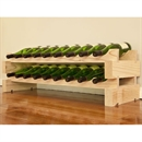 Modularack Wooden Wine Rack 18 Bottle - Natural Pine