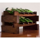 Modularack Wooden Wine Rack 8 Bottle - Dark Stain