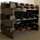 Vinrack Wooden Wine Rack 12 Bottle - Dark Stain