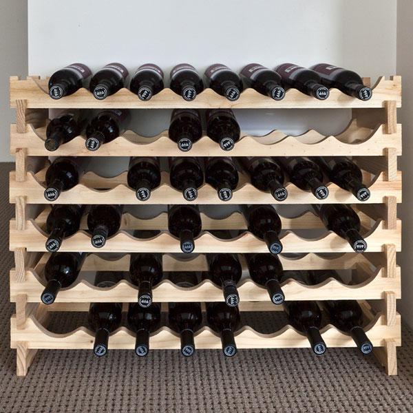 vinrack wooden wine rack 48 bottle natural pine 6h x 8w - Wooden Wine Rack
