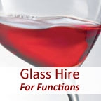 View more glass hire for corporate events from our Glass Hire for Functions range