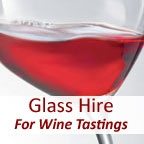 View more glass hire from our Glass Hire for Wine Tastings range