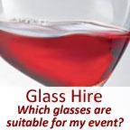 View more glass hire from our Wine Glass Hire – Which wine glasses are suitable for my event? range