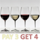 Riedel Vinum Zinfandel / Chianti / Riesling Glass - Pay 3 Get 4