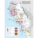 De Long's Metro Wine Map of California - Wine Regions