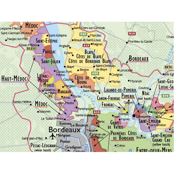 Map Of France Showing Nice.De Long S Wine Map Of France Wine Regions