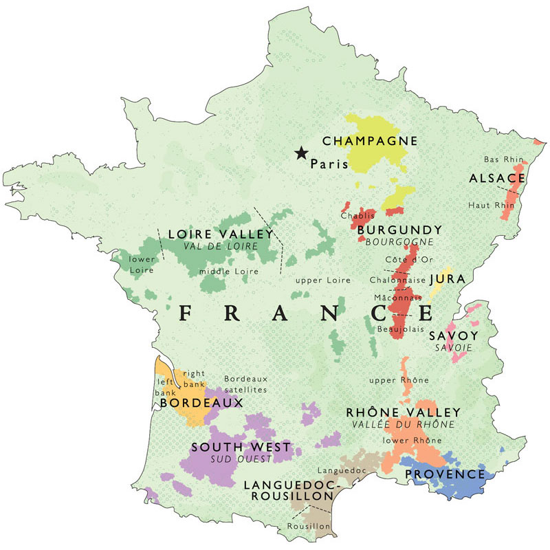 Map Of France Bordeaux.De Long S Wine Map Of France Wine Regions Wine Education Wine