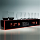 Riedel O Range Stemless Cabernet / Merlot Glass 8 FOR 6 - 8 Glasses For the Price of 6