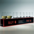 Riedel O Range Stemless Viognier / Chardonnay Glass 8 FOR 6 - 8 Glasses For the Price of 6