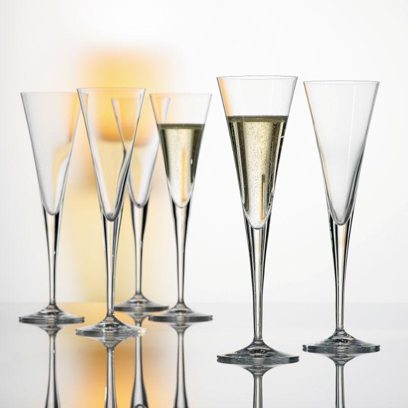 spiegelau taper champagne glasses flute set of 6. Black Bedroom Furniture Sets. Home Design Ideas