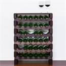 Modularack Wooden Wine Rack - Dark Stain with Top 6H x 6W