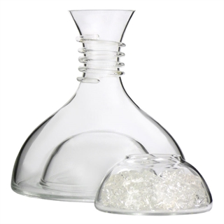 White Wine Ice Decanter With Ice Bowl 1L