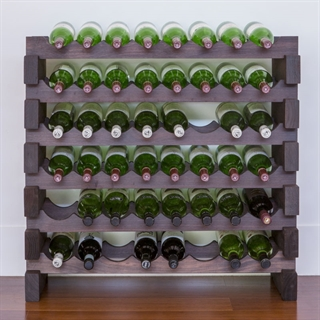 Modularack Wooden Wine Rack 48 Bottle - Dark Stain 6H x 8W