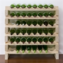 Modularack Wooden Wine Rack 48 Bottle - Natural Pine 6H x 8W