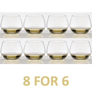 Riedel O Range Stemless Chardonnay Glass 8 FOR 6 - 8 Glasses For the Price of 6 - 5414/97